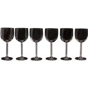 Set of 6 Crystal Wine Glasses, Stemware, red wine glasses
