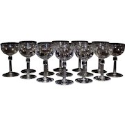 Set of 14 Crystal Wine Glasses,Cordials .Champagne Coupes, Stemware
