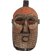 Vintage Carved Wood African Mask