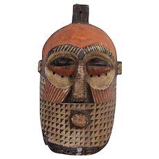 Vintage Carved Wood African Mask