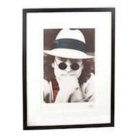 Vintage Limited Edition John Lennon Hand Pulled Silk Screen Serigraph by Nishi Saimaru