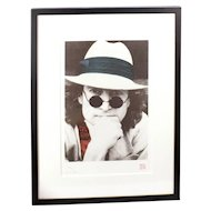 Vintage Limited Edition John Lennon Hand Pulled Silk Screen Serigraph by Nishi Saimaru