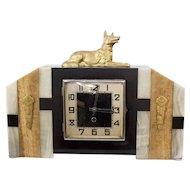 Vintage Art Deco German Shepard Shelf Clock