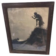 1920s Photograph of Woman on Sand Dune by James Wallace Pondelicek