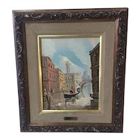 Venice Canal Scene Oil On Canvas By Antonio DeVity