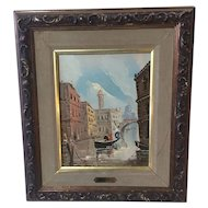Venice Canal Scene Oil On Canvas By Antonio DeVity