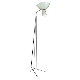 Large French Mid-Century Floor Lamp