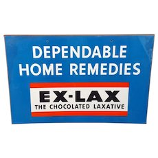 EX-LAX The Chocolate Laxative - Dependable Home Remedies Masonite Sign