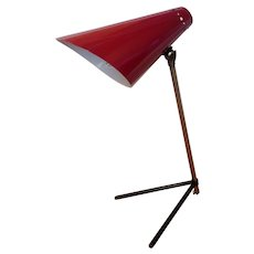 Mid Century Modern Cocotte Desk Lamp In The Style Of Jean Boris Lacroix And Serge Mouille 50's Adjustable Table Light