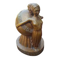 on hold! Rare Andrew Loomis 1937 Trophy Award for The Nations Art Gallery Eighth Annual Exhibit Outdoor Advertising Art in form of Art Deco Lady