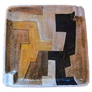 Vintage Mid Century Modern Raymor Abstract Geometric Pottery Ash Tray