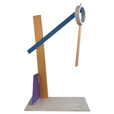 Postmodern Geometric Metal Sculpture