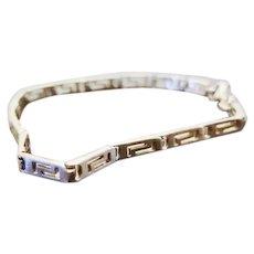 Vintage Sterling Silver Greek Key Design Bracelet