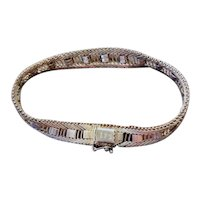 Vintage Sterling Silver Diamond Cut Bracelet
