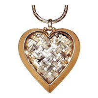 Alfred Philippe For Trifari  Alfred Phillipe for Trifari Heart baguette Necklace