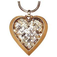 Alfred Philippe For Trifari  Alfred Phillipe for Trifari Heart baguette Necklace