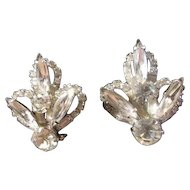 Vintage Juliana Rhinestone Clip on Earrings - Bridal