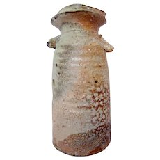 Mike Weber Anagama Woodfired Japanese Stoneware Vase