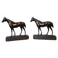 Vintage Armor Bronze Company 1920s Horse Bookends