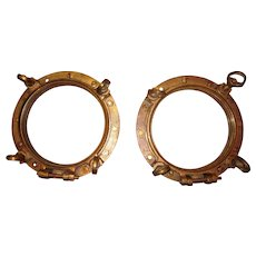Antique Brass Maritime Porthole Windows