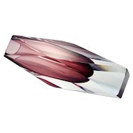 Murano Sommerso Amethyst Glass Vase