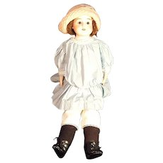 "Schoenau & Hoffmeister German Bisque Kid Leather Doll 22"" Doll"