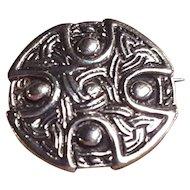 Scottish Kilt Pin Celtic Knot Cross Sterling Silver Made in Scotland Silver Pin Brooch