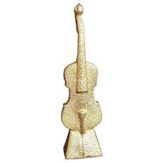 """""""The Band Violin"""" Signed Kjell Engman Kosta Boda Art Glass Sculpture"""