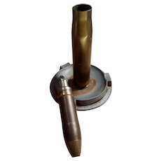 WWII Trench Art Bullet Lighter and Ashtray