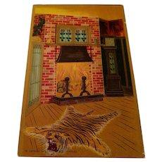 P. Schmidt & Co. of Chicago Antique postcard Arts and Crafts period interior scene