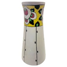 "Vintage Belgian Art Deco Boch Freres La Louvière Hand Painted Floral Ceramic Vase Studio Art Collectible Signed ""Lison"""