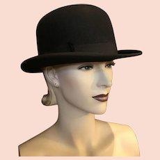 Early 20th Century Black Felt Bowler Hat