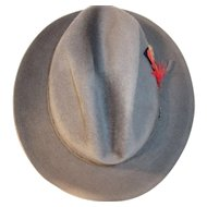 Vintage Men's Dark Gray Cartier Hat Signe Jolimarc Eleganza- Made in Canada