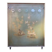 1920s Italian Atelier Dressing Room Display Art Deco Chinoiserie Jade Green Painted Hall Tree Coat Rack