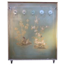 1920s Italian Atelier Dressing Room Display Art Deco Chinoiserie Jade Green Painted Hall Tree Coat Rack