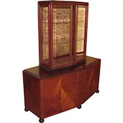 Clement Rousseau French Art Deco Display Cabinet signed & dated CR 1927