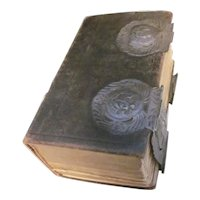 1855 Dutch Bible With Silver Mounts
