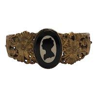 Vintage Hinged Cameo Bracelet