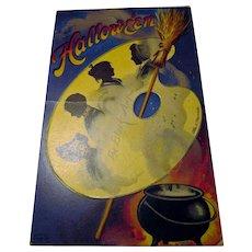 Vintage Clapsaddle Halloween Postcard The Black Art Series no.1393