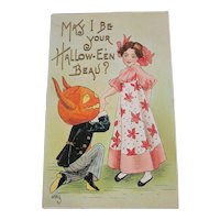 Vintage Halloween Postcard by HBG L&E series 2262