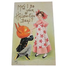 Vintage Halloween Postcard by HBG L&E series 2262