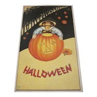 Vintage Halloween postcard Stecher James E. Pitts