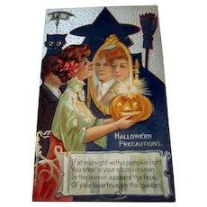 Vintage Halloween Postcard Nash Series 2 Halloween Precautions
