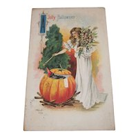 Vintage Halloween Postcard by SB