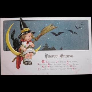 Vintage Gottschalk Dreyfuss & Davis Halloween Postcard dated in script Oct. 31-1913