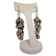 Sterling Grape Bunch Earrings