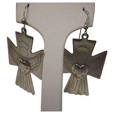Vintage Sterling Southwestern Angel Earrings