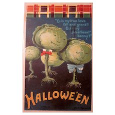 Vintage Ellen Clapsaddle Halloween Postcard Veggie People