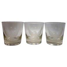 Vintage Frosted Eagle Rocks Glasses (Set of 6)