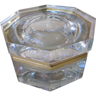 Vintage Mandruzzato Murano Octagonal Glass Box